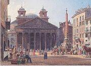 220px-Rudolf von Alt - Das Pantheon und die Piazza della Rotonda in Rom - 1835