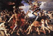800px-PERRIER-Francois-Aeneas-and-his-Companions-Fighting-the-Harpies