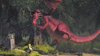 Dragon in Shrek The Third
