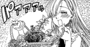 Elizabeth given some vegetables by kind farmers