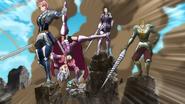 Holy Knights avoiding Diane's attack