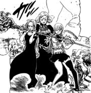 Vivian taking Elizabeth and Margaret hostage