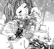 Characters sleeping during crossing shooting stars