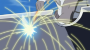 Killer Bee piercing through Suigetsu's sword.png