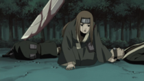 Miru about to be killed by Kisame.png