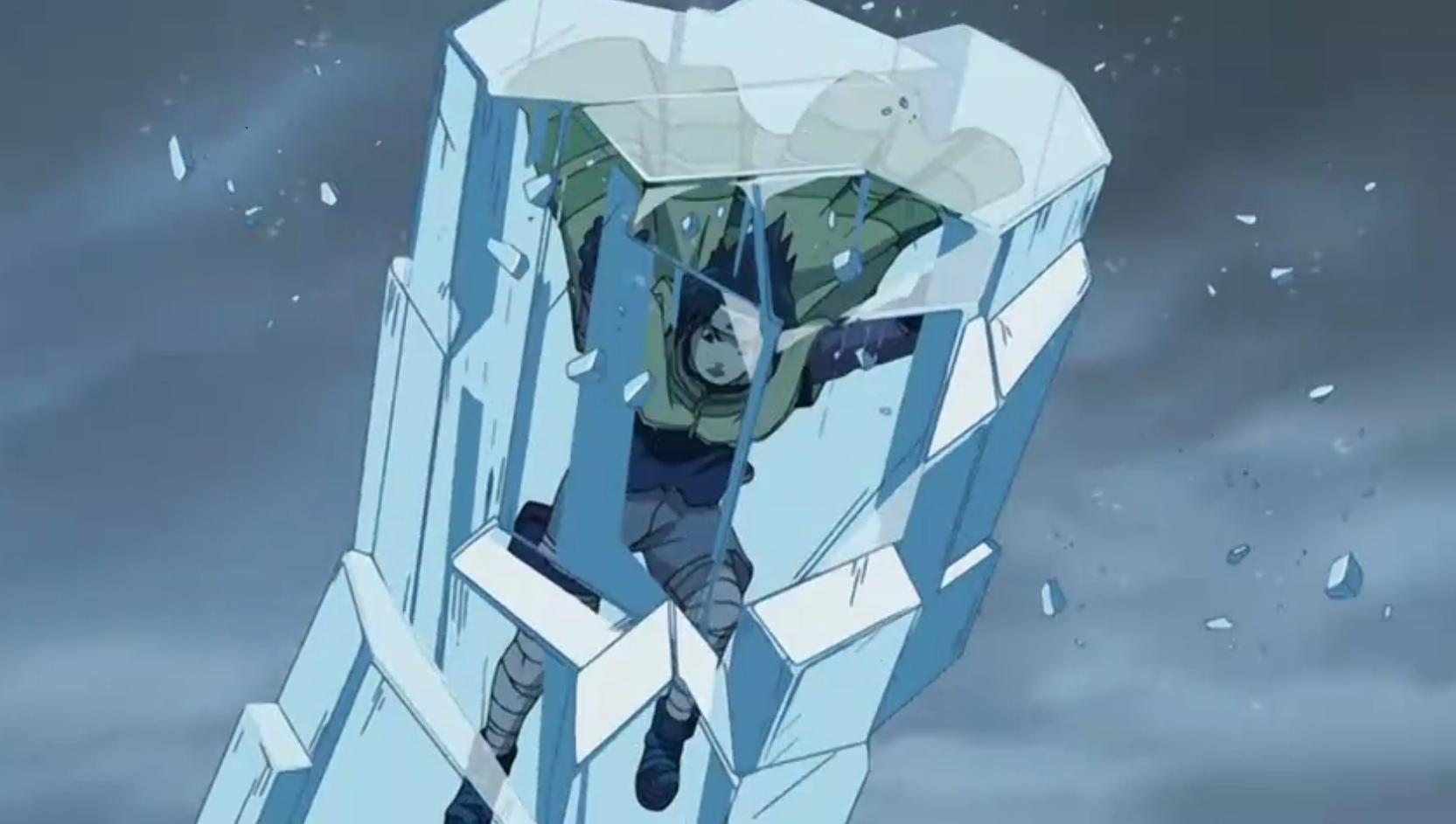 T cnica da pris o de gelo wiki naruto fandom powered - Technique de sasuke ...