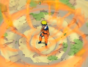 Naruto Using The Fox's Chakra