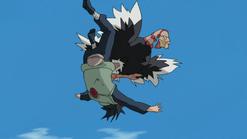 Ostrich shining kick