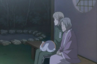 Chizu telling natsume the mermaid legend