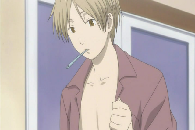 File:Natsume brushing teeth while looking at his chest.png