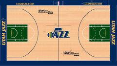 Utah Jazz home court design 2015-16