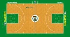 Boston Celtics court logo