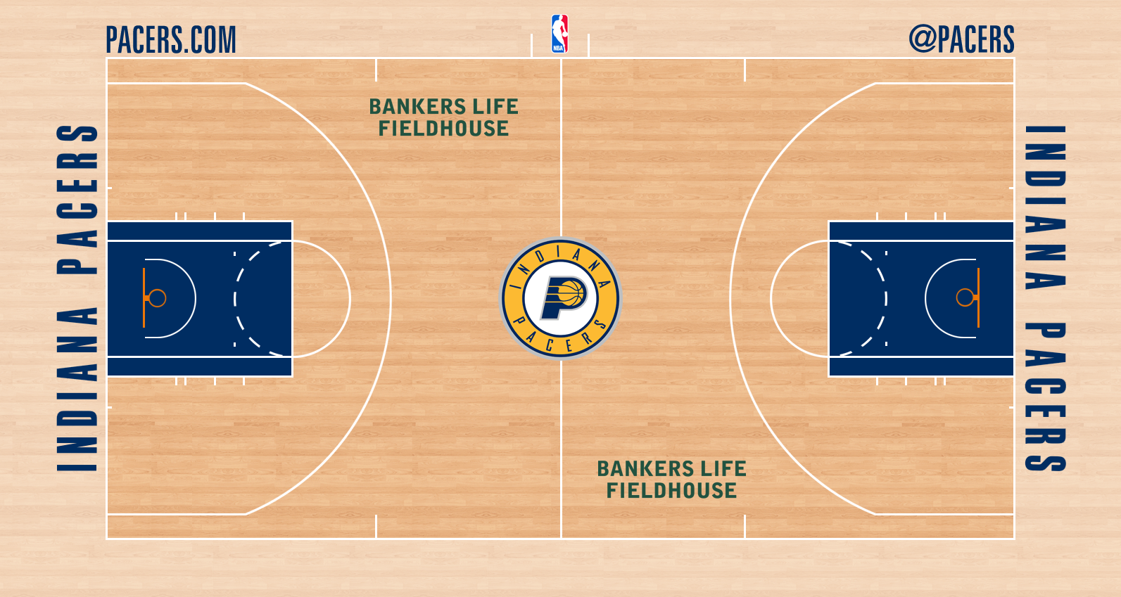 Image - Indiana Pacers court logo.png | Basketball Wiki ...