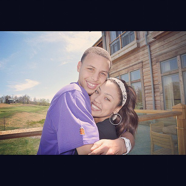 Image cute pictures stephen curry his wife ayesha 1 for Steph curry wedding ring