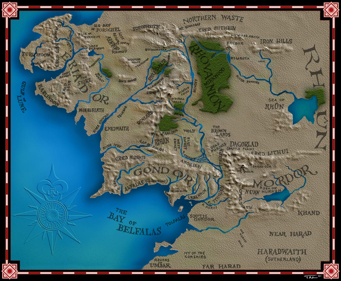 Image Map of Middleearthjpg NeoQuenya Wiki – Full Size Map of Middle Earth