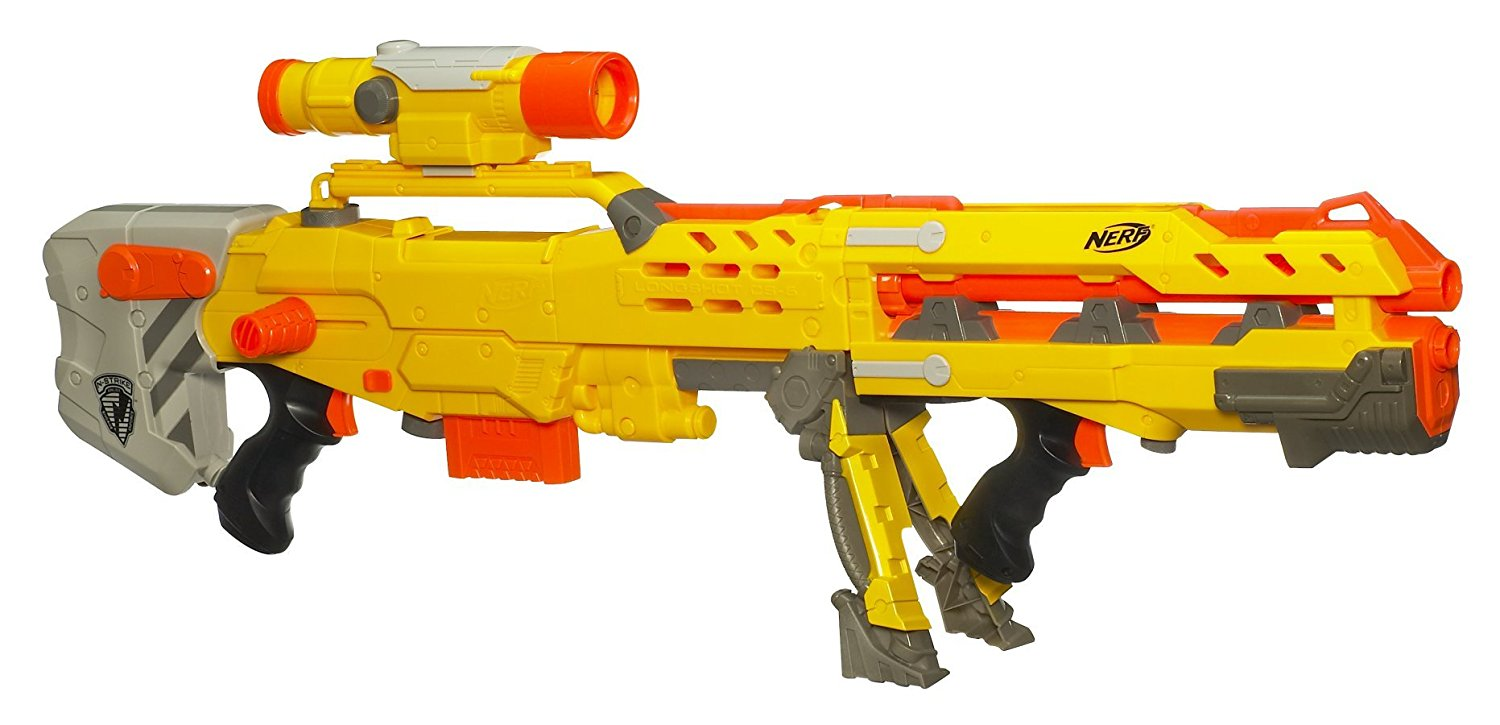 Amazon.com: Nerf N-Strike Elite Longshot CS-6 (Blue Version): Toys ...