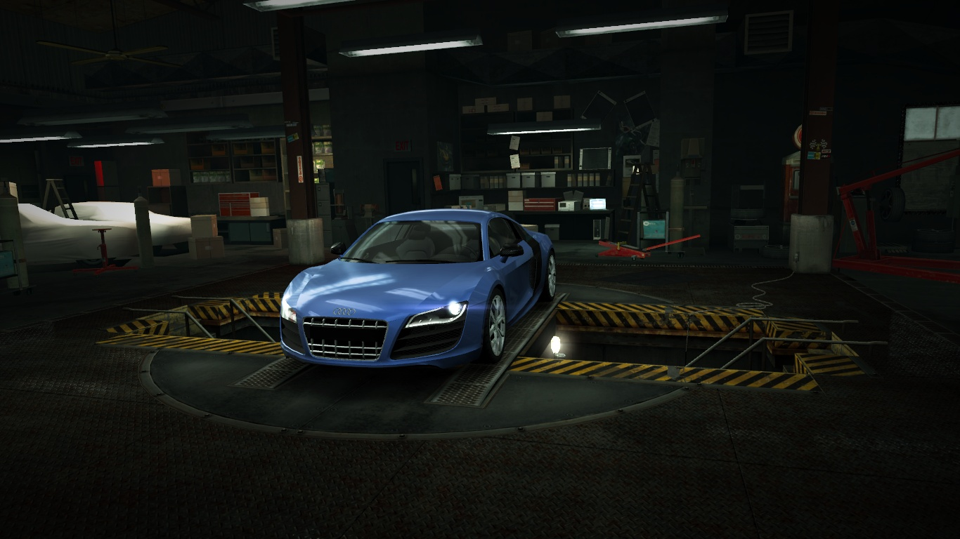 image garage audi r8 coup 5 2 fsi quattro nfs world wiki fandom powered by wikia. Black Bedroom Furniture Sets. Home Design Ideas