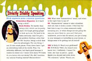 Nickelodeon Magazine February 1996 Stick Stickly interview