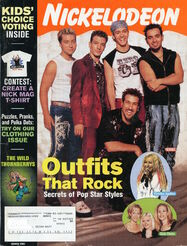 Nickelodeon Magazine cover March 2001 NSYNC