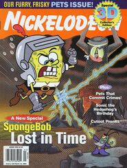 Nickelodeon Magazine cover March 2006 SpongeBob Lost in Time