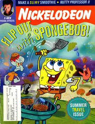 Nickelodeon magazine cover august 2000 spongebob