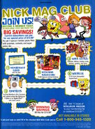 Nick Mag club advertisement Nickelodeon Magazine November 2005