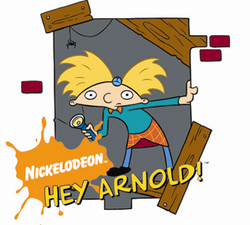 Hey Arnold logo with image