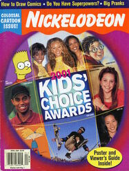 Nickelodeon Magazine cover April 2001 Kids Choice Awards