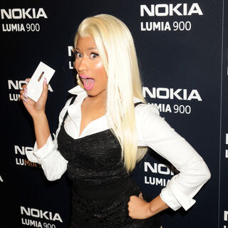 Nicki promoting the Nokia Lumia 900.