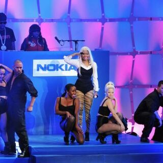Minaj performance during concert.