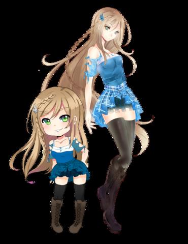 File:Momo with Chibi.png