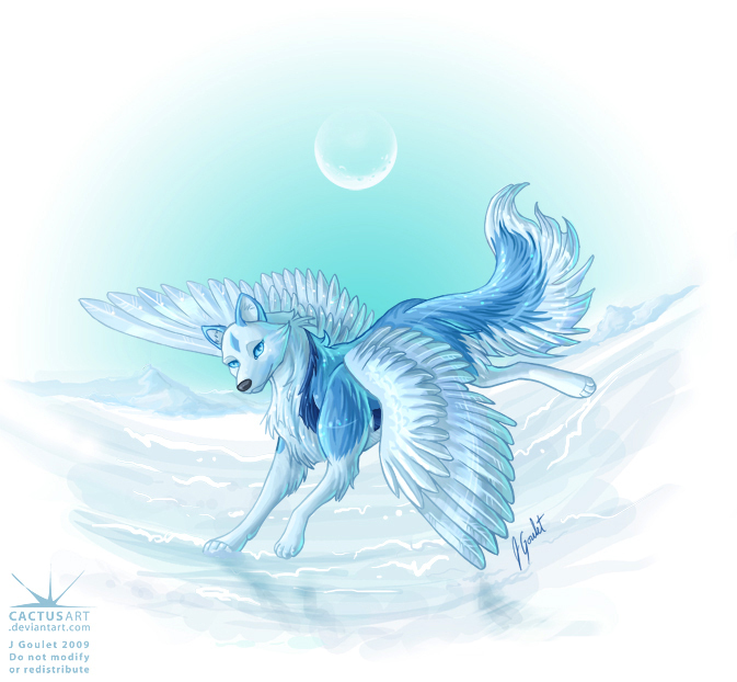 Ice Wolf With Wings Female Ice Wolfs