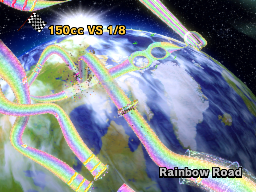 Mario Kart 8 Rainbow Road Space Station Map