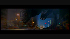 Zilla pursues the group, following the death of its offspring.