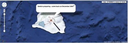 NORAD Tracks Santa - 2D Map - Dec 2010 Before Xmas Eve