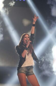 Katerina Lioliou on stage