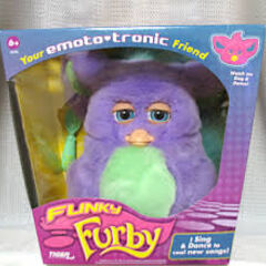Funky Furby Purple and Green