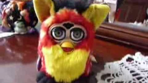 Furby series 8th, Rusty with black eyelids