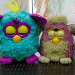 Comparison with Furby Baby (Purple)