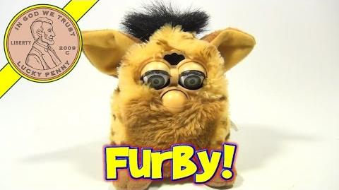 Furby Vintage Tan And Brown With Leopard Spots Animated Toy, 1999 Tiger Electronics