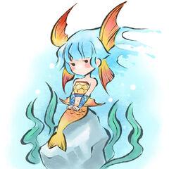 Nanami underwater.