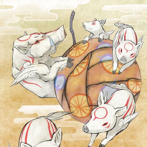 Bakugami and his children.