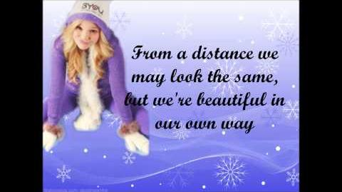 Olivia Holt - Snowflakes lyrics video full song