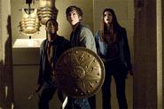 Percy Jackson, Annabeth Chase, Grover Underwood against the Hydra