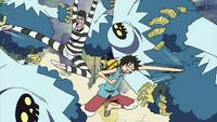 Bon Kurei and Luffy Team Up.png