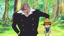 Garp Delivers Luffy