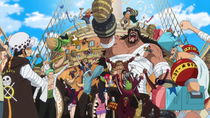 Straw Hat Pirates Grand Fleet Celebrates