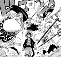 Zoro and Sanji Block Dosun and Ikaros Much.png