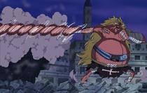 Oars Uses Gomu Gomu no Rifle