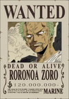 Zoro's Wanted Poster